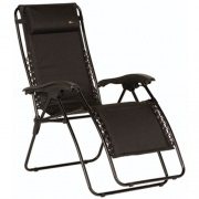 Faulkner  Recliner Padded Black XL   NT03-0441 - Camping and Lifestyle