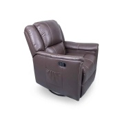 Lippert  Swivel Glider Recliner Heat/Wand Majestic Chocolate  NT03-2066 - Interior Chairs - RV Part Shop Canada