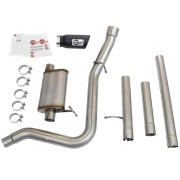 Advanced Flow Engineering  MACH Force-Xp 3 IN to 3-1/2 IN 409 Stainless Steel Cat-Back Exhaust System w/Black Tip  NT71-3072 ...