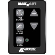Maxxair Vent  Wall Control 6-Key Black w/2Each  NT22-0491 - Exterior Ventilation