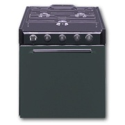 "Suburban  22\"" Black Range 3 Burner Steel Door   NT62-9811 - Ranges and Cooktops - RV Part Shop Canada"