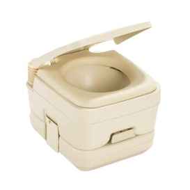 964 Portable Toilet w/Mounting Brackets - 2.5 Gallon - Parchment
