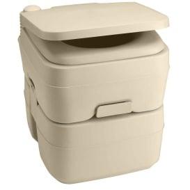 965 MSD Portable Toilet w/Mounting Brackets - 5 Gallon - Parchment
