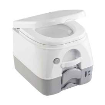 974 MSD Portable Toilet w/Mounting Brackets - 2.6 Gallon - Grey