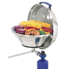 "Marine Kettle Gas Grill Original 15"" w/Hinged Lid"