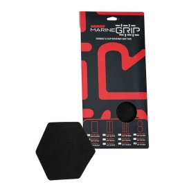 Marine Grip Tape - Honeycomb - Black - 12 Pieces
