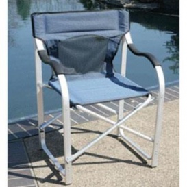 Directors Chair Aluminum Blue