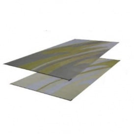 Patio Mat Mirage 8X20 Silver Gold