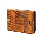 Optronics  Amber LED Square Stud Mount Clearance/Marker Lite   NT18-1019 - Towing Electrical - RV Part Shop Canada